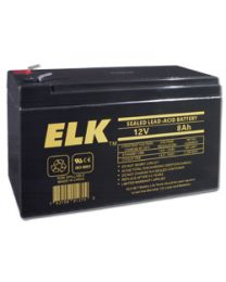 Elk ELK-1280 12V 8Ah Sealed Lead Acid Battery
