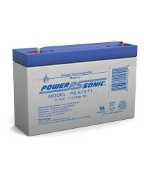 Power-Sonic PS-670 6V 7Ah Battery SLA Sealed Lead Acid