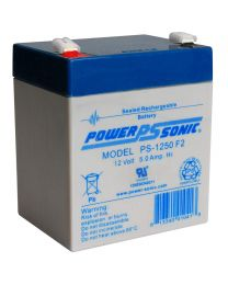 Power-Sonic PS-1250 F2 12V 5Ah Battery SLA Sealed Lead Acid