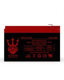 12V 15Ah F2 Battery SLA Sealed Lead Acid Rechargeable Battery Neptune NT12-15