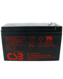 CSB HR1234WF2 12V 34W Battery SLA Sealed Lead Acid