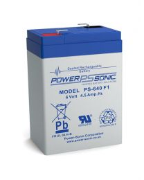 Power-Sonic PS-640 6V 4.5Ah Battery SLA Sealed Lead Acid