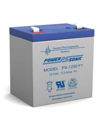 Power-Sonic PS-1250 F1 12V 5Ah Battery SLA Sealed Lead Acid