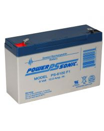 Power-Sonic PS-6100 6V 12Ah Battery SLA Sealed Lead Acid