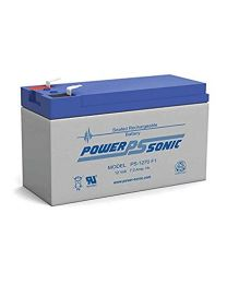 Power-Sonic PS-1270 F1 12V 7Ah Battery SLA Sealed Lead Acid