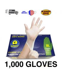 1000 PCS Clear Vinyl Gloves Powder Free NON Latex Examination Gloves