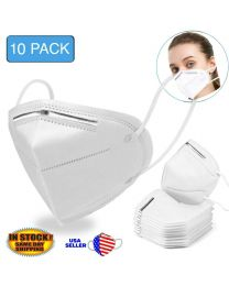 10 Pack of KN95 Disposable Face Mask Mouth Cover Medical Protective Respirator K N95